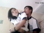Pinay couple making horny in classroom